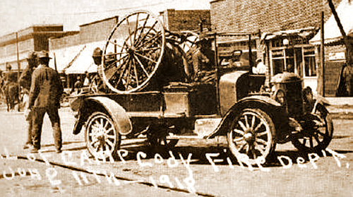 One of the Camp Cody Fire Engines in 1918