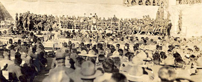 Boxing Match At The Camp Cody Stadium
