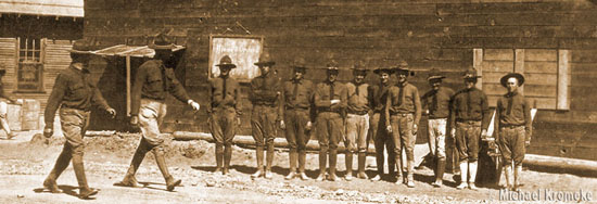 Camp Cody Soldiers Near YMCA Building