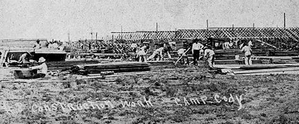 Construction At Camp Cody