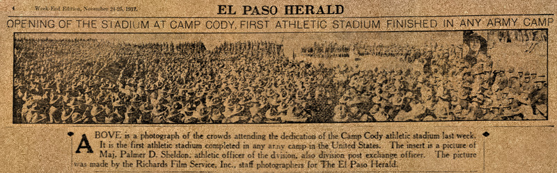 Opening Of The Stadium At Camp Cody